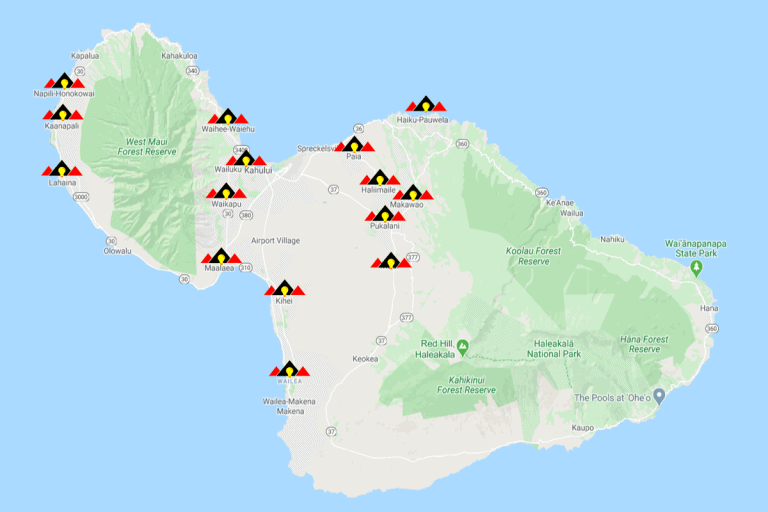 maui of maui with electric maui nui service area markers