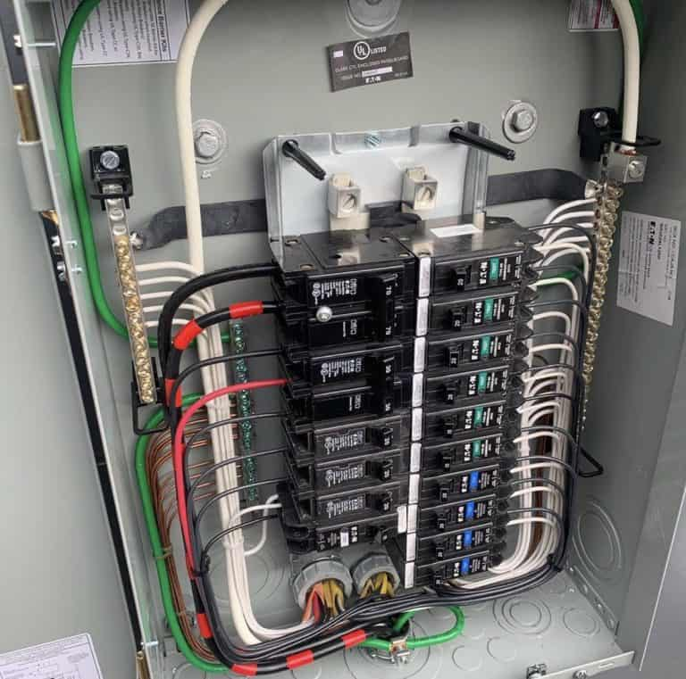 very organized electrical panel wiring