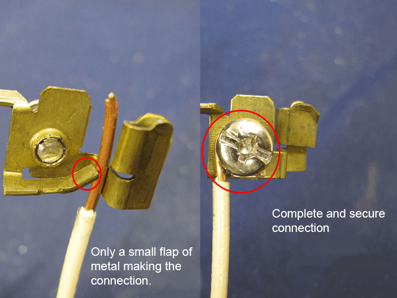 stab in vs wrap electrical connection type