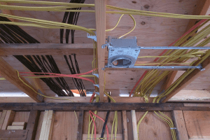 romex wiring in house ceiling