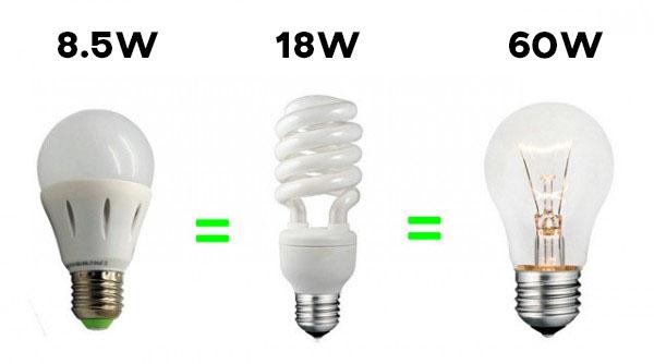 led bulb cfl bulb incandescent bulb