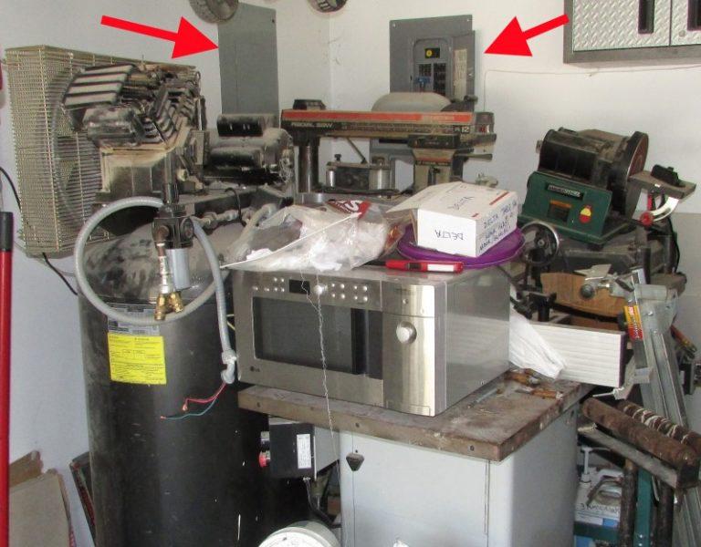 electrical panel hidden behind stuff