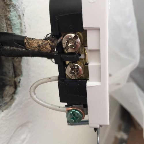 incorrect outlet wiring